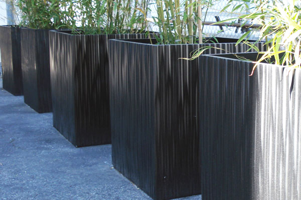 Kenji Square Commercial Planter Modern Outdoor