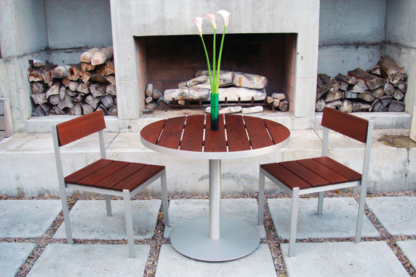 Luma Large Outdoor Cafe Table Modern Outdoor