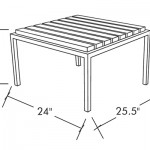 Talt Side Table Dims Drawing Commercial Residential Modern Outdoor Furniture