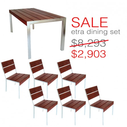 Miraculous Etra Patio Dining Set Modern Outdoor Customarchery Wood Chair Design Ideas Customarcherynet